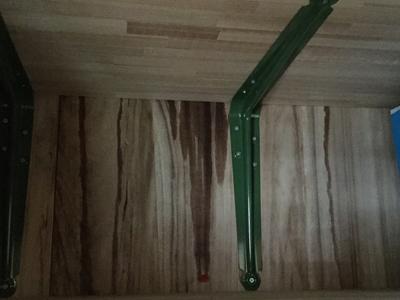 室内の雨漏りの跡。